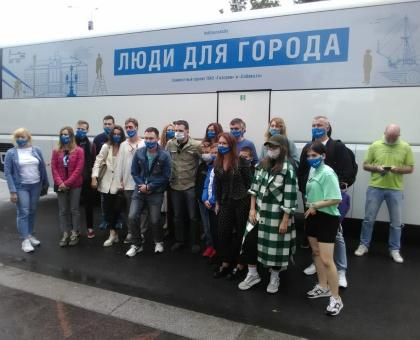 """Обложка к новости """"Участники конкурса «Люди для города» посетили «Газпром Арену»"""""""
